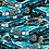 Thumbnail: Hong Kong Blue Taxi Pattern Print