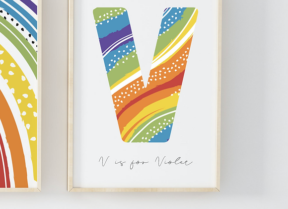 Personalised Rainbow Dots Poster Print