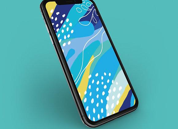 Blue Moonlight Print Phone Screensaver