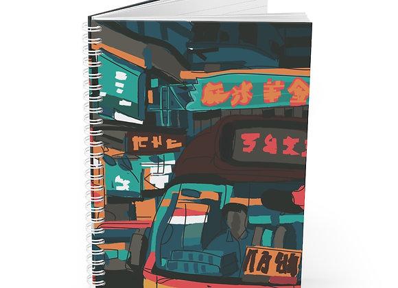 Hong Kong Streets Spiral Notebook