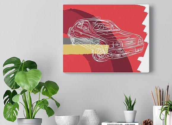 Hong Kong Taxi Canvas Gallery Wraps