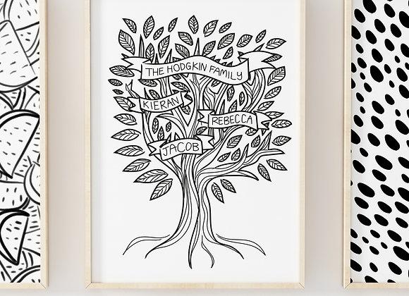 Family Tree Poster Print