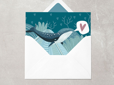Valentine's Cards for the Great Whales