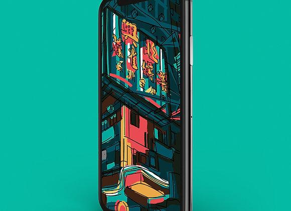 Hong Kong Neon Lights - Phone Screensaver