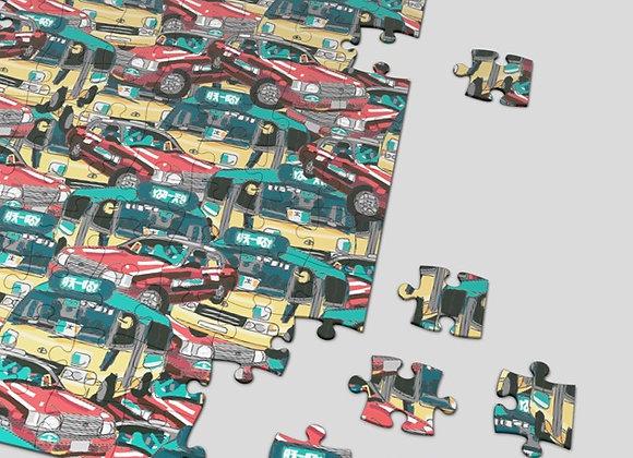 Taxi Minibus 500 piece puzzle