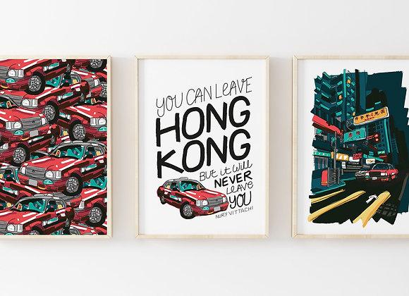 Leave Hong Kong Quote Poster Print
