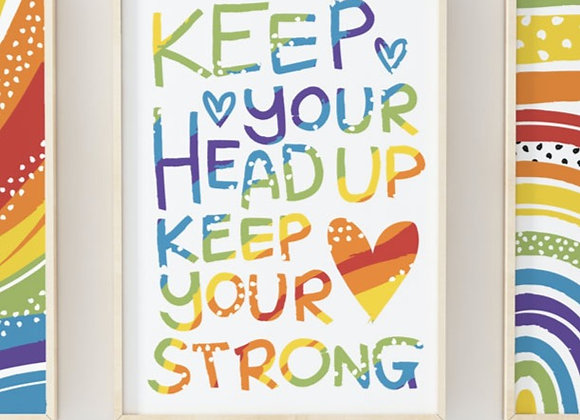 Rainbow Dots Quote Poster Print