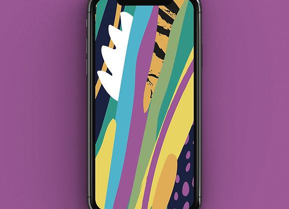 Abstract Neon Jungle Phone Screensaver