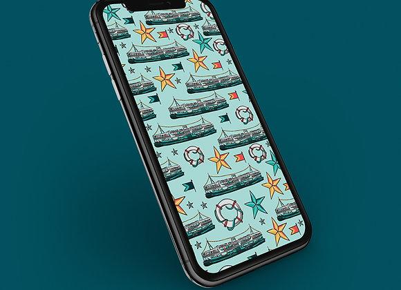 Hong Kong Star Ferry Phone Screensaver
