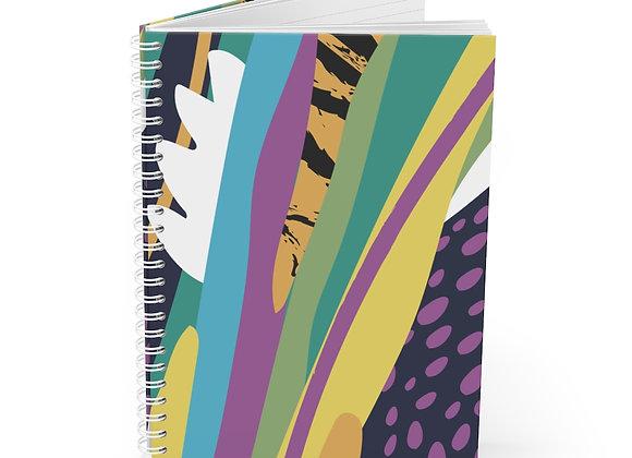 Neon Jungle Spiral Notebook