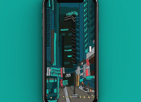 Hong Kong Tram Line - Phone Screensaver