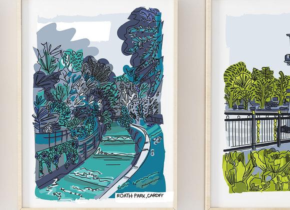 Wales Roath Park Print