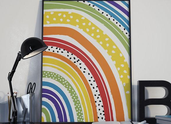 Rainbow Arch Dots Poster Print