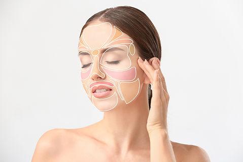 Beautiful woman with reflexology massage