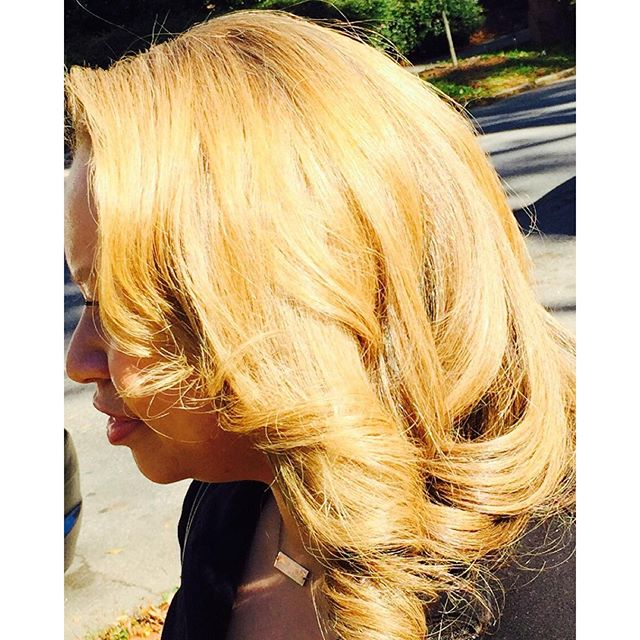 Blondes have more fun! #nofilterneeded the work speaks for itself! Book me today via _rebelsalonatl