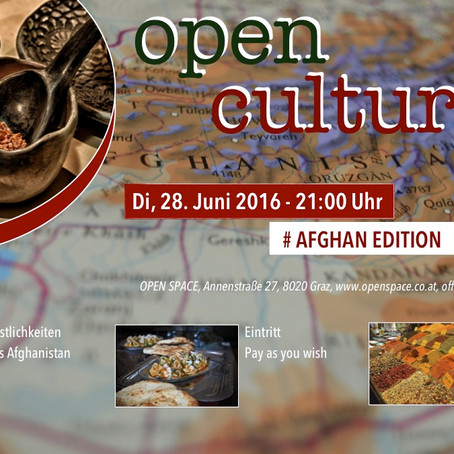 OPEN CULTURE *AFGHAN EDITION