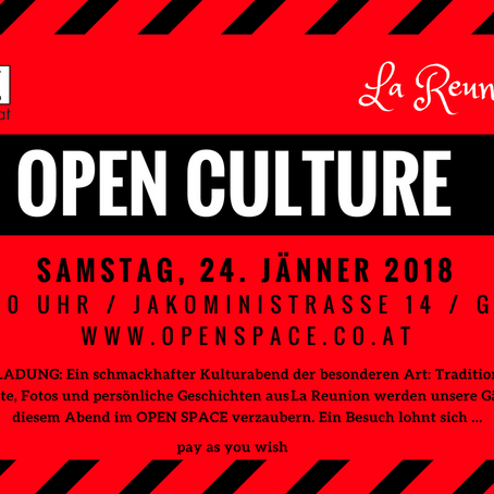 OPEN CULTURE * La Reunion Edition