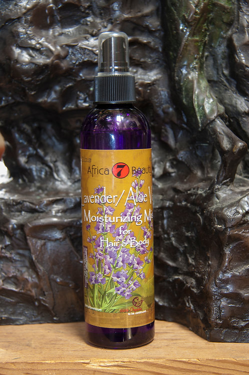 Lavender/Aloe Vera Moisturizing Mist for hair & body, 8 oz.
