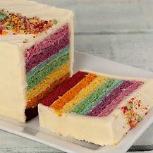Truly Treats Rainbow Loaf Cake