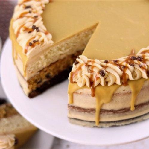 Salted Caramel & Butterscotch Drip Cake