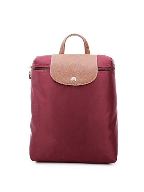 Wine red Backpack folding