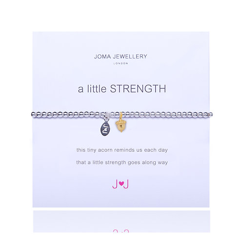 A little Strength - Gold acorn bracelet