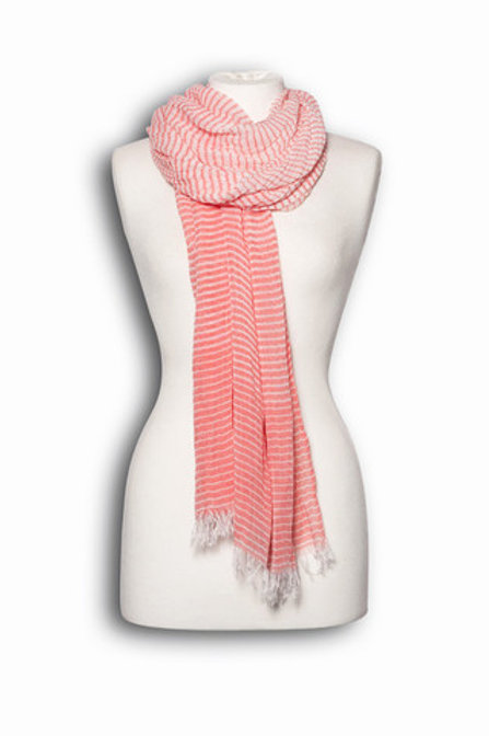 Red Candy Stripe scarf