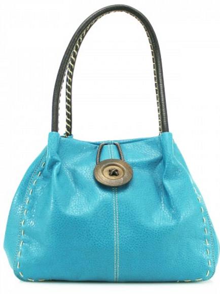 Turquoise Button Shoulder Bag