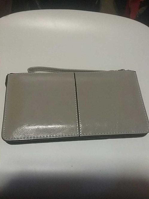 Grey clutch purse