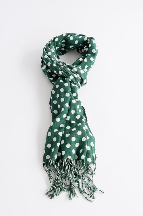 Cotton Scarf - Winter green