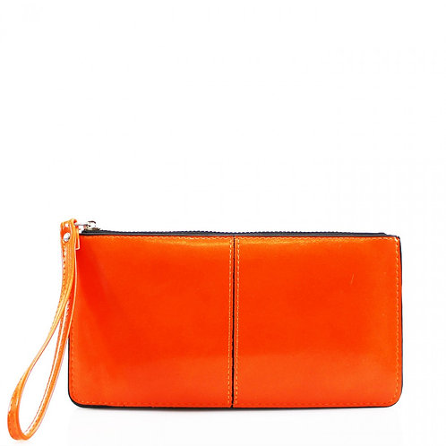 Orange clutch purse