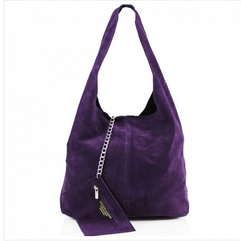 Purple Italian Suede bag