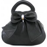 Black Bow Bag with multiple pockets