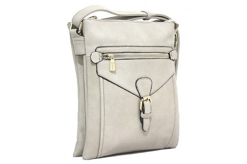 Bessie Across Body 3 pocket buckle - Taupe