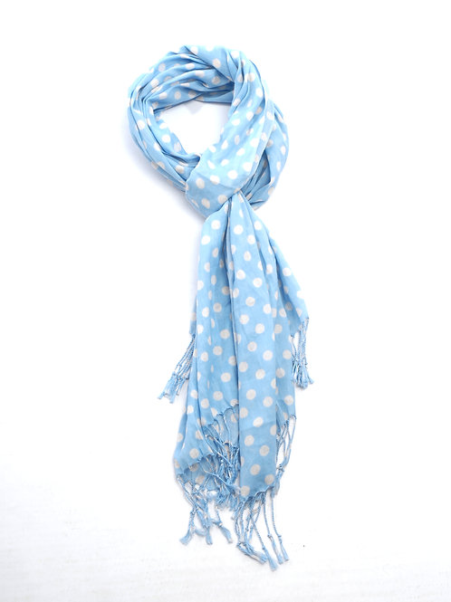 Cotton Scarf - Pale blue