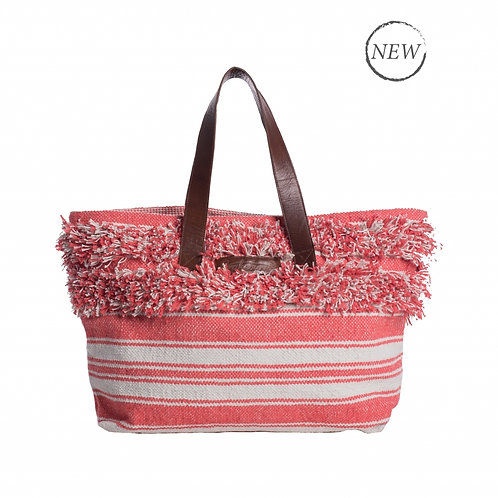 Brakeburn Boho Beach Bag - Coral