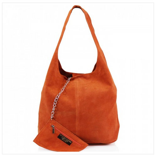 Orange Italian Suede bag
