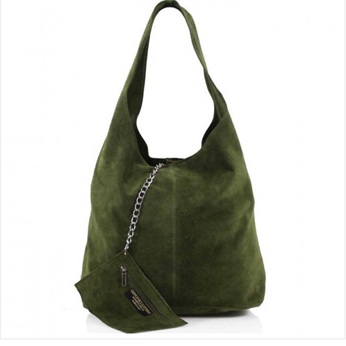 Green Italian Suede bag