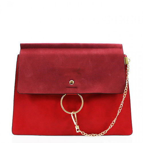 Clutch Bag with chain - Red