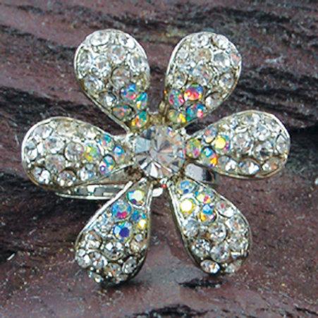 Ring - Diamonte flower