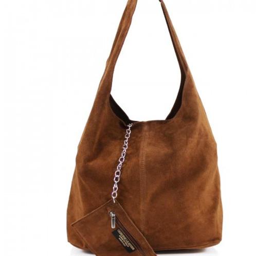 Brown Italian Suede bag