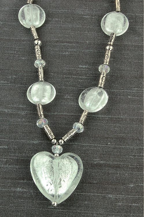 Necklace - Big Crystal Heart