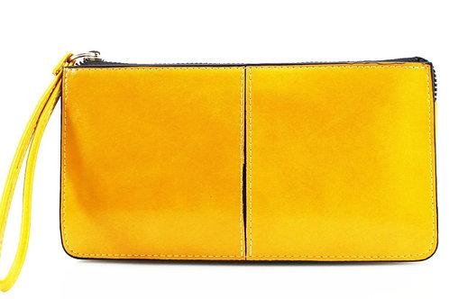 Yellow clutch purse