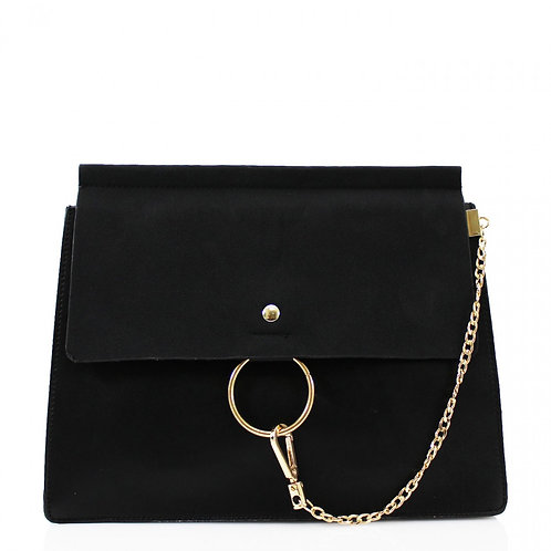 Clutch Bag with chain - Black