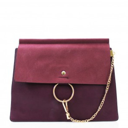 Clutch Bag with chain - Purple
