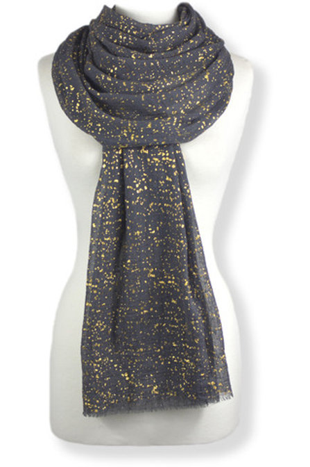 Dark Grey with metallic Gold speckles