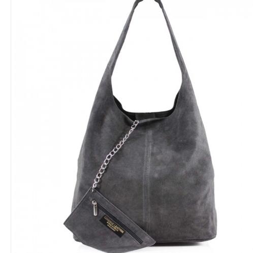 Grey Italian Suede bag