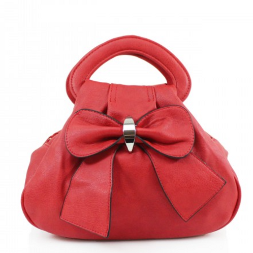Red Bow Bag with multiple pockets