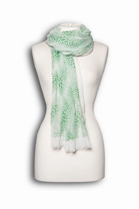 White and Green scarf