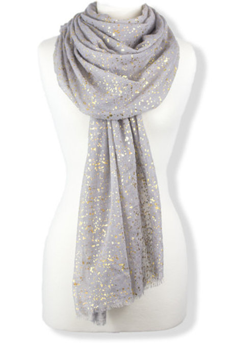 Light Grey with metallic Gold speckles